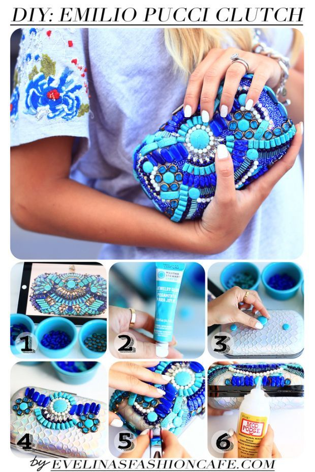 We've been following Evelinas Fashion Cafe for quite some time and can't get enough of her fashion forward and not to mention easy to follow projects. We adore her Emilio Pucci Clutch Tutorial along w