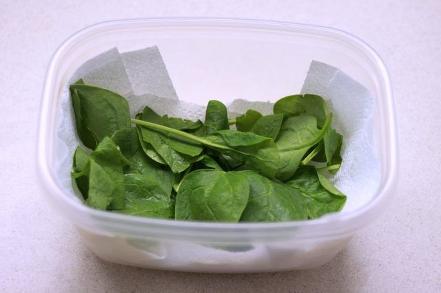 Fresh spinach leaves deteriorate quickly, whether they are purchased loose at a farmers market or in  sealed  plastic bags. To keep  spinach fresh and ready to eat, store it at the correct temperature in the ideal container in the refrigerator. Before storing it, ensure that  fresh spinach leaves are cleaned of all debris and  dried, with no...