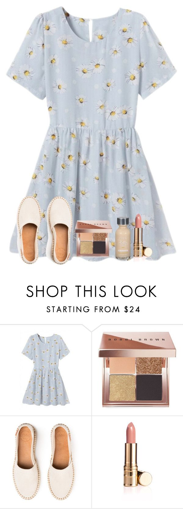 """""""Summer picnic outfit"""" by elisabethturner ❤ liked on Polyvore featuring WithChic, Bobbi Brown Cosmetics, Elizabeth Arden and L'Oréal Paris"""