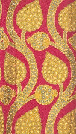 16th century kaftan textile • vine motif