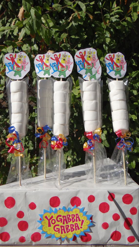 Yo Gabba Gabba Marshmallows Party Favors by FantastikCreations, $1.00