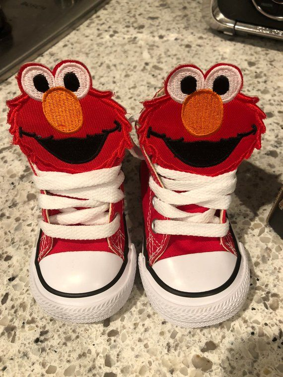 faefda4ad71e Custom Elmo Converse shoes Size 3 Toddler
