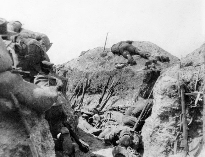 6 Aug. 1915. Gallipoli - Lone Pine. 5:30pm, the sun behind them, ANZACs attacked, surprised to find that frontline Turk trenches were concealed by logs and earth. The ploy enabled Turks to fire at the ANZACs at close range. ANZACs, managed to enter the frontline trench through communication trenches using hand-to-hand combat. While the main Turkish trench was taken in half hour, the troops had to endure Turk counterattacks for another 4 days. ANZAC casualties from the battle reached around…