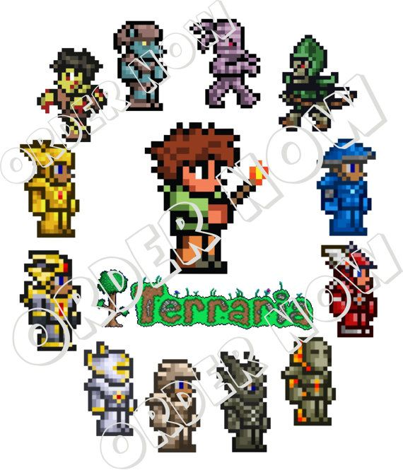 #Terraria DIY iron on transfer printable pdf by Aluminumguy, $5.00