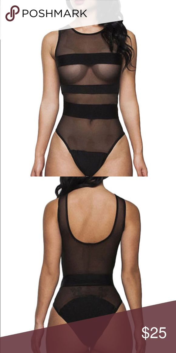 Sexy Black Sheer Mesh Paneled One Piece Swimsuit Very sexy and daring sheer black swimsuit with opaque panels to cover your goodies  Never been worn!! Not Nasty Gal***- just put that for exposure. Tags: Missguided Dollskill Boohoo Forever 21 American apparel ASOS Naked wardrobe Zara UNIF Nasty Gal Swim One Pieces