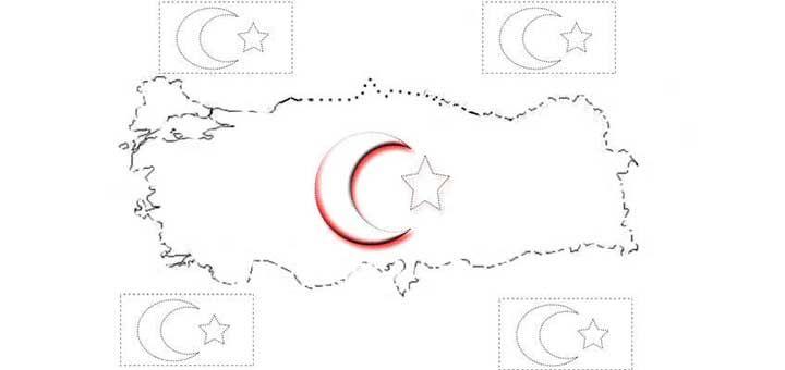 Turk Bayragi Boyama Kagidi Calismasi Turk Bayraklari Boyama Kagidi Bayrak Iphone