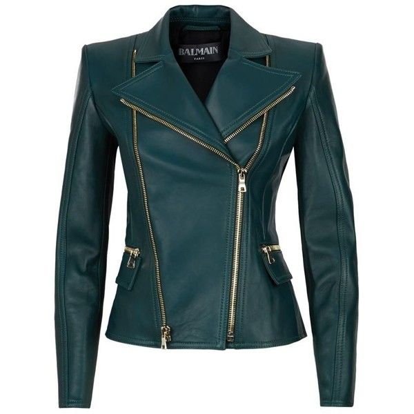 Balmain Biker Jacket found on Polyvore