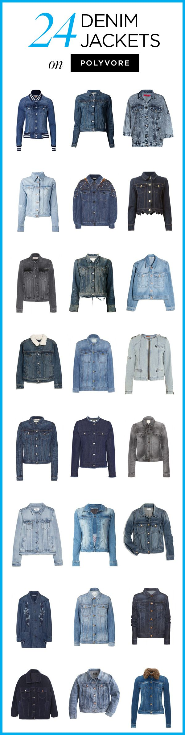 24 Denim Jackets on Polyvore! Shop all denim outerwear styles to find a look you love: http://polyv.re/DenimJackets