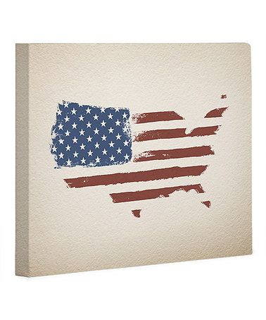 Look what I found on #zulily! USA Map Flag Wrapped Canvas #zulilyfinds