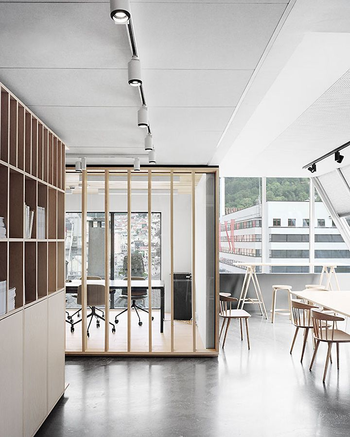 Bergen international festival office by eriksen skajaa for International interior designers