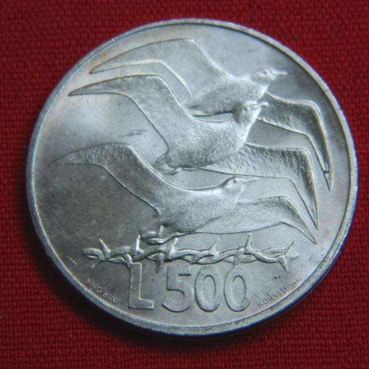 Идеальные 500 лир Сан Марино 1975 BU птицы чайки животные море СЕРЕБРО Аукцион с Рубля