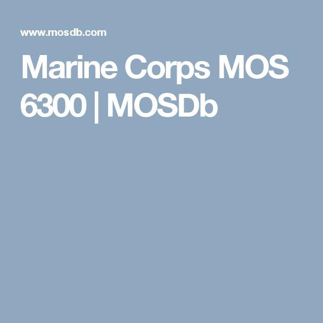 Marine Corps MOS 6300 | MOSDb