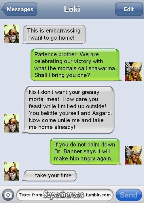 haaaa!: Avengers Texts, Marvel Superhero Funnies, Website, Texts Messages, Web Site, Avengers Funnies Texts, Texts From Superhero, Funnies Texts From Thor, Funnies Superhero Texts