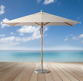 17 best images about mf h house pool on pinterest curved for Restoration hardware outdoor umbrellas