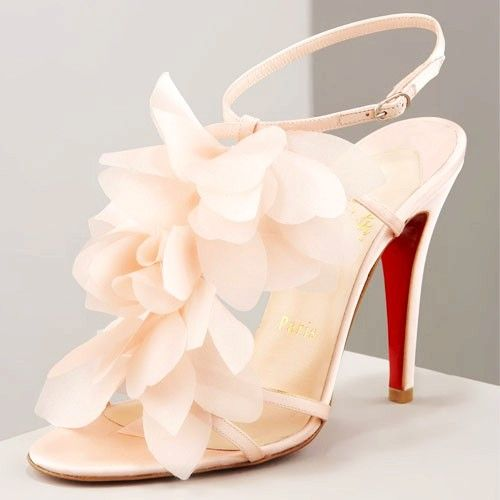 Christian Louboutin Wedding Shoes with Red Sole ♥ Chic and Fashionable Wedding High Heels