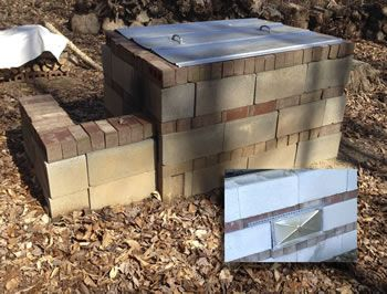 23 Best Images About Cinder Block Smoker On Pinterest