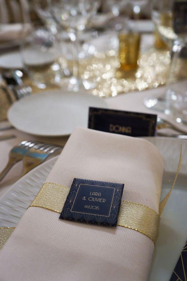 Mariage Art Deco - Navy & Gold - Dessine-moi une etoile (Design et Papeterie)