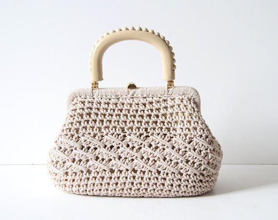 Vintage #crochet handbag (1960's) $35 from northbrooklyndrygood