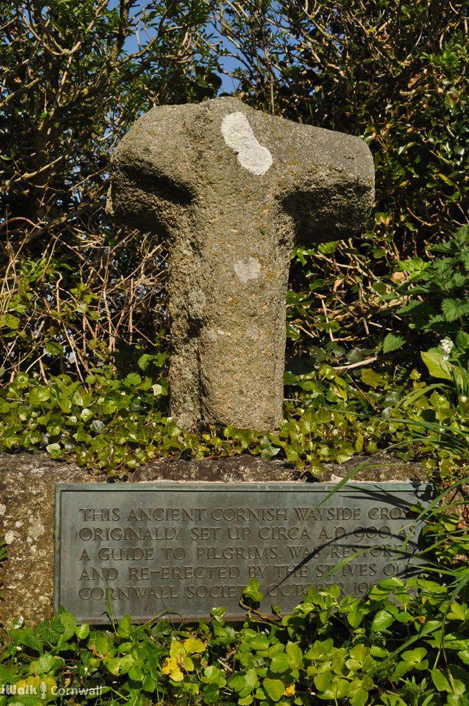 Ancient wayside cross at Lelant, Cornwall