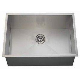 A Line 22 Inch Zero Radius Single Bowl Undermount 18 Gauge Stainless Steel  Kitchen Sink