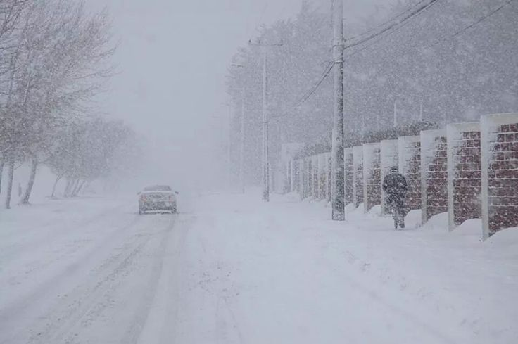 Nieve . Punta Arenas