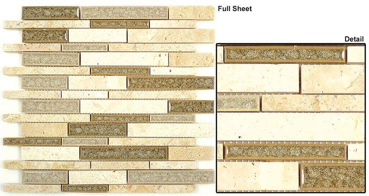 Glazzio Tiles Random Brick Mosaic Tranquil Series