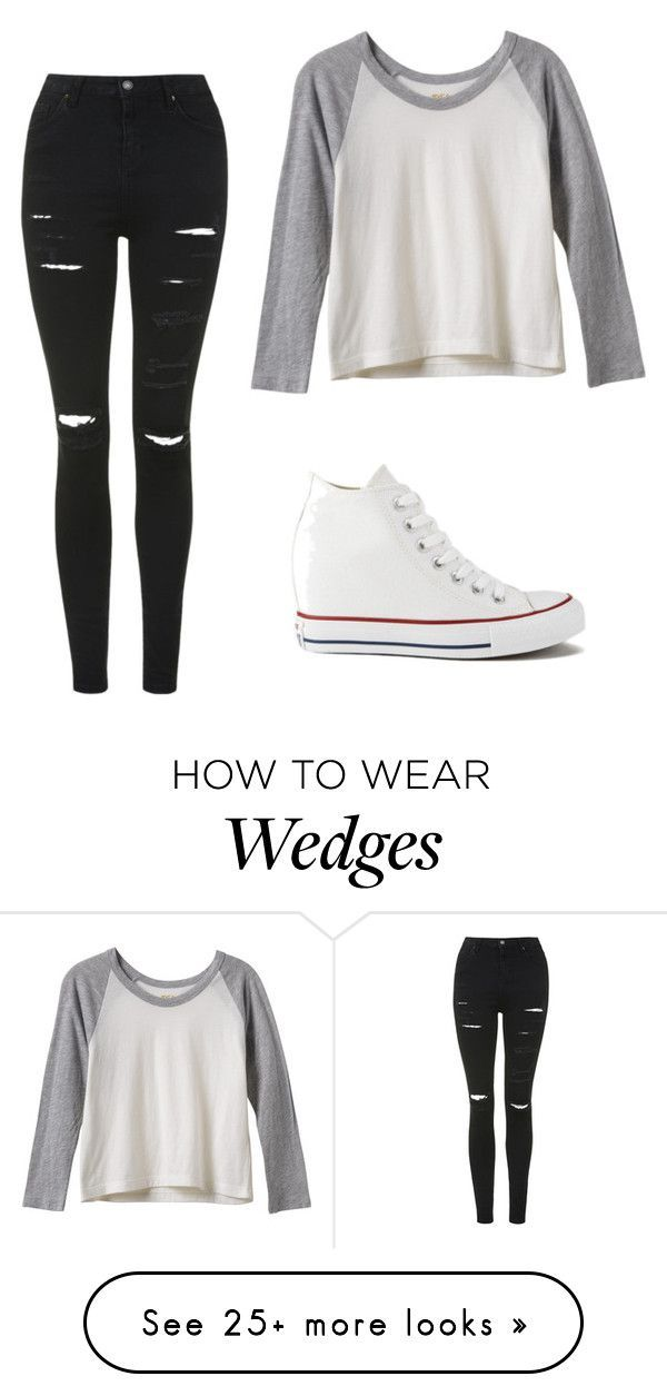 """Untitled #252"" by ninastan on Polyvore featuring moda, RVCA, Converse y Topshop..."