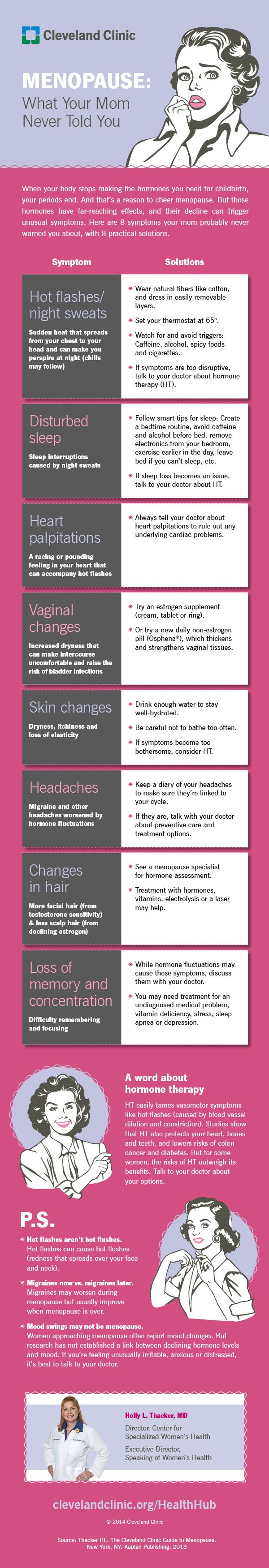 8 solutions to miserable #menopause symptoms you need to know. #infographic