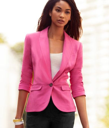 Pink blazer: Light Pink Blazers, Clothing Envy, Hot Pink Blazers, Clothing Hors, Dreams Closet, Hm Blazers, H M Outfits, Colors Blazers, Pink Jackets