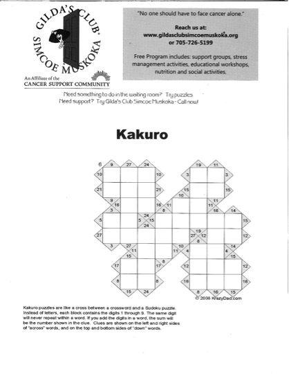 Try Kakuro!