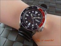 Seiko SKX009K1 Automatic Diver's 200M Bisel azul-rojo.