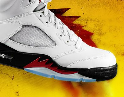 """Check out new work on my @Behance portfolio: """"Air Jordan 5 Fire Red. Refreshed project."""" http://on.be.net/1KjEwHD"""