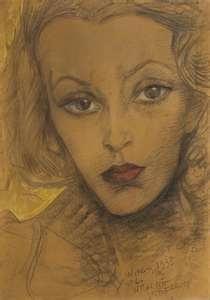 Witkacy - Portrait of Maria Dabrowiecka.