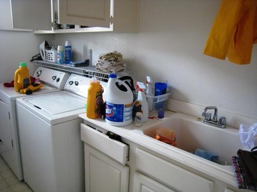 Organizing the laundry area