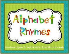 FREE - Alphabet Rhymes:  Beginning Sound and Letter Formation