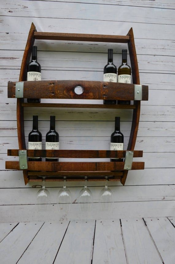 Wine Barrel Wine Rack With Bung Hole Wine Rack Rustic Wine Racks Oak Shelves