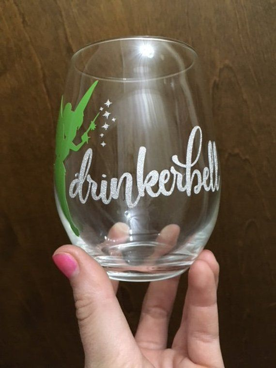 Tinkerbell     ***CHECK ITEM DESCRIPTION*** Wine Glass