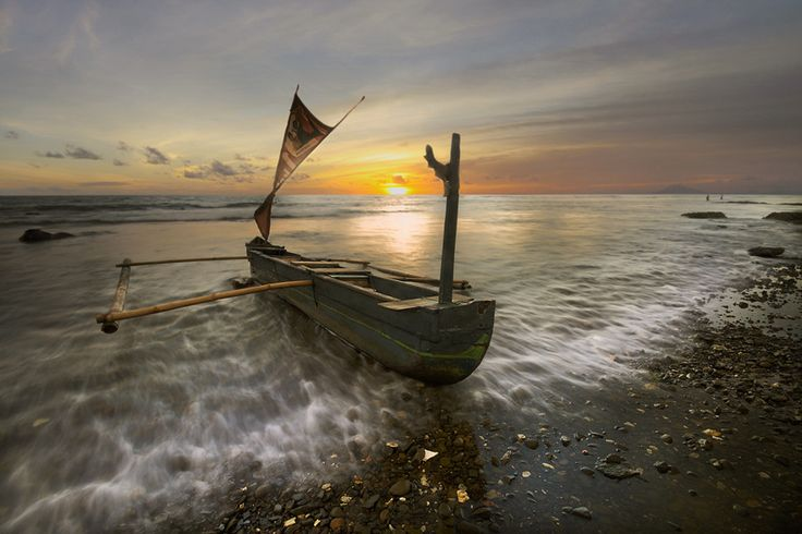 'Lonely Boat' by Agah PermadiPlanets Dreams, Lonely Boats, Agah Permadi, Visual Delight, Sea Dreams