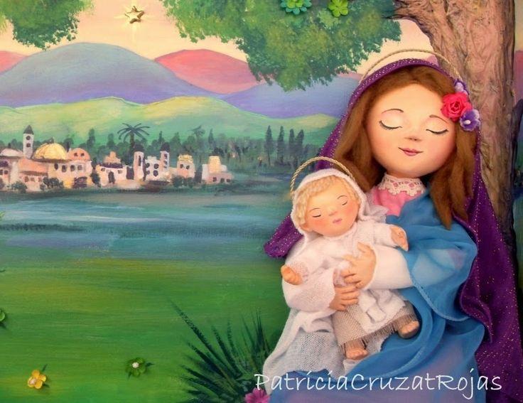 Patricia Cruzat Artesania y Color: pesebre