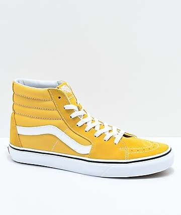 af1bc9777b4b27 Yellow High tops Vans shoe