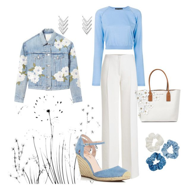 """""""Daisy Days"""" by fashionlsmypassion ❤ liked on Polyvore featuring Agnona, Versace, Rebecca Taylor, Kate Spade, Mudd and Marc Jacobs"""