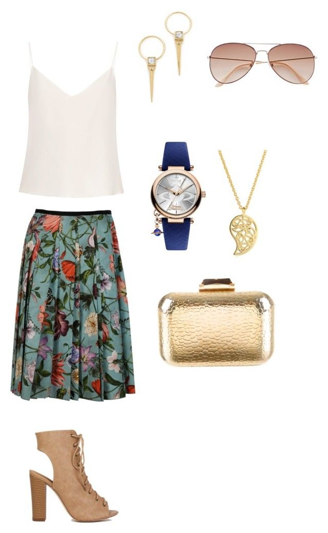 """""""Stay who you are"""" by aliza-ahmed on Polyvore featuring Raey, Gucci, Vivienne Westwood, KOTUR, Alexis Bittar, Sonal Bhaskaran and H&M"""