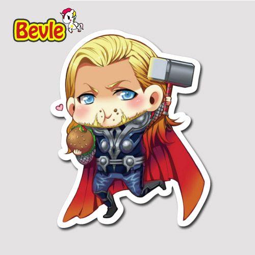 Bevle 9639 Marvel Avenger Super Hero @ Водонепроницаемый Наклейки Прилив Мультфильм 3 М Стикер Холодильник Скейтборд Автомобилей Граффити