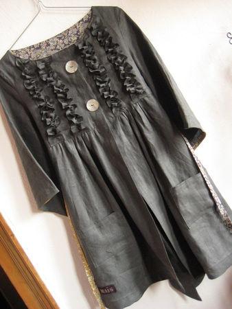 Frilly Linen Jacket/Dress