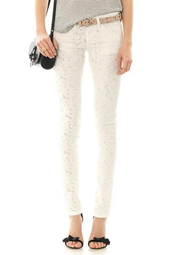 Isabel Marant Étoile Mael Embroidered Mid-Rise Skinny Jeans, $600, available at MatchesFashion.com.