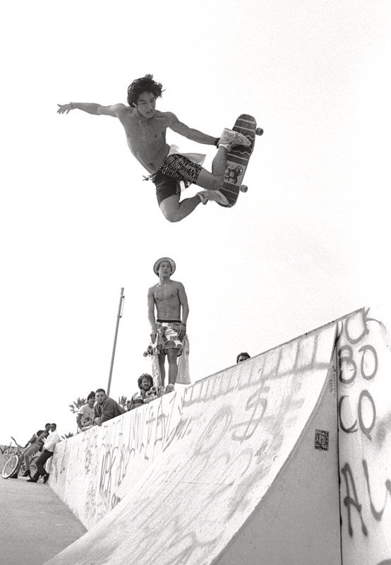 Christian Hosoi: Venice Pavilion, California, 1987.  This is why he was the best.  No Helmet, No Fear, Big Air!
