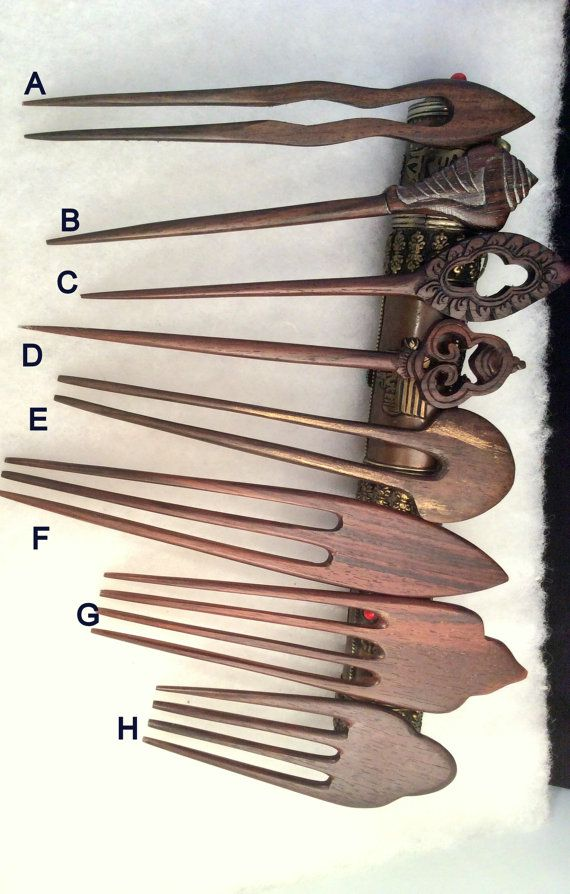 SALE  2 for 1. Hand Carved Ebony Wood or Bone Hair Stick,  Spanish Comb. Buy one, get one free.