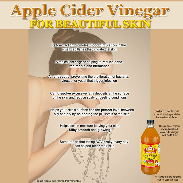 Apple cider vinegar for beautiful skin hair and beauty