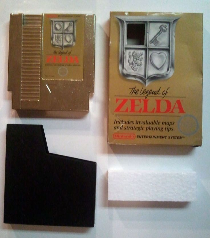 Legend of Zelda (NES, 1987) Rare Gold Cartridge with Box- HTF Hard to Find