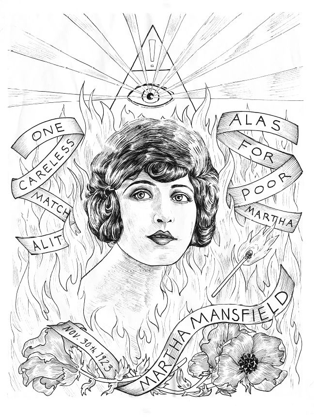 Martha Mansfield, from Illuminating the Stars Volume 1 by Alicia Justus. Currently funding on Kickstarter: http://kck.st/1wD7LNa